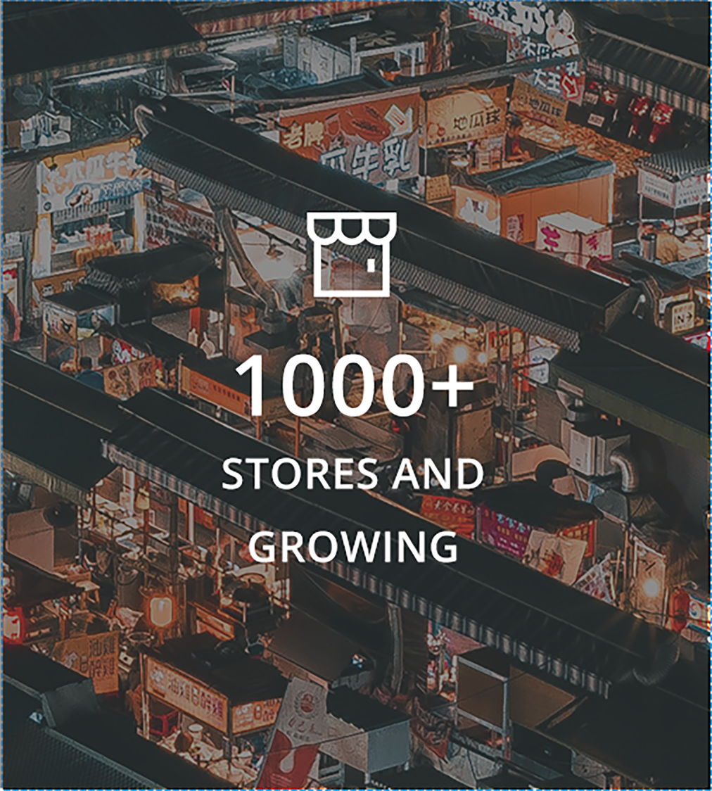 1,000 stores have been built