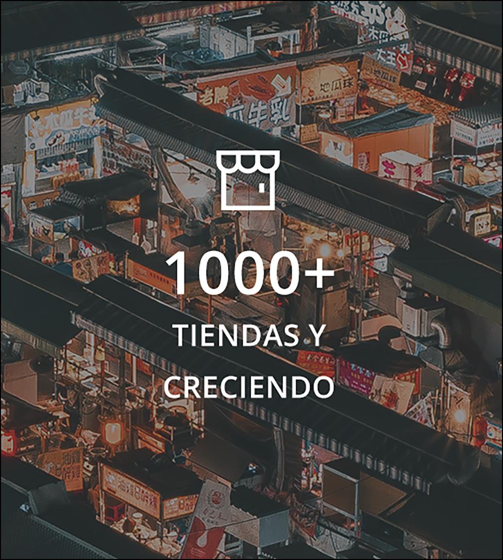 Se han construido 1,000 tiendas